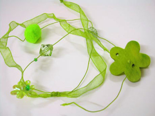 Green Flower Garland