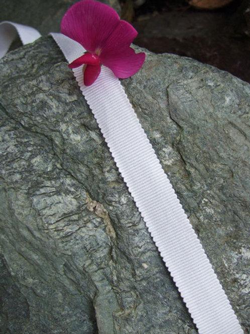 White Cotton Grosgrain