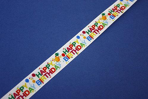 Happy Birthday Taffeta Ribbon