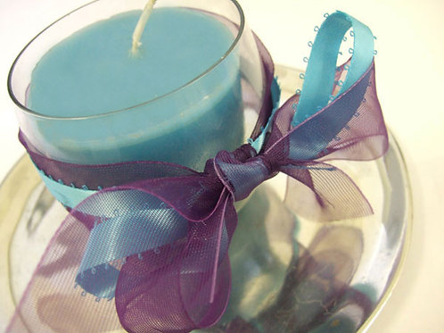 Picot Misty Turquoise (shown with Sheer Aubergine)
