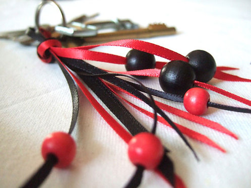 3mm Tomato Red DF Satin (Shown with Black DF Satin)