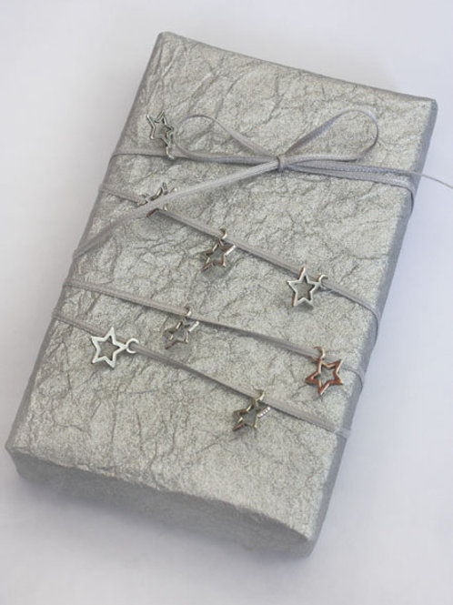 7mm Silver Stars (pack of 20) & 1.5mm Silver DF Satin