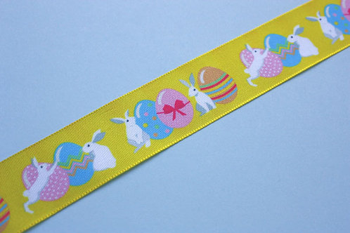 Easter Bunnies and Eggs Ribbon