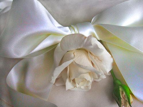 Bridal White Double-Faced Satin