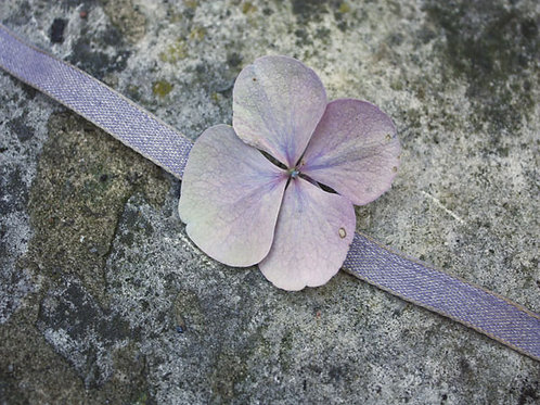Violet Linen / Cotton Ribbon