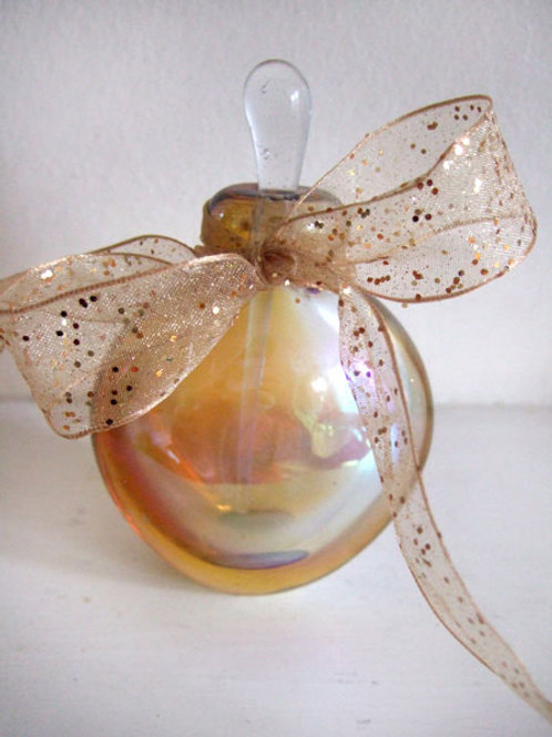 Honey Gold Glitter Organza (Wired)