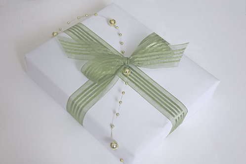 Satin / Sheer Stripe Green Mist