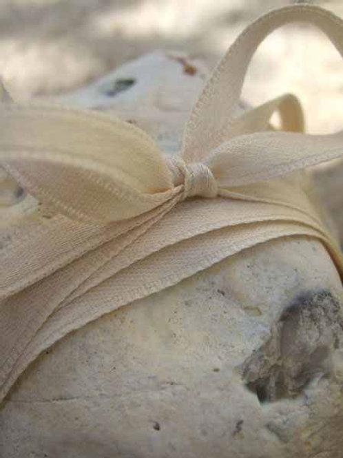 Unbleached Cotton Double Faced Satin Ribbon