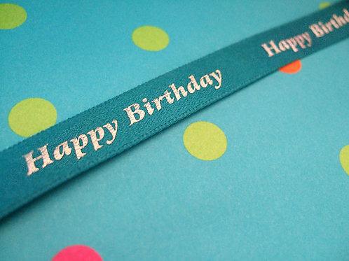 Happy Birthday Satin (various colours)