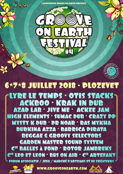 Affiche Groove on Earth Festival 2018