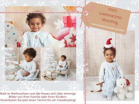Weihnachts-Mini-Fotoshootings jetzt