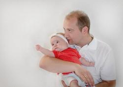 Vater und Baby Footgrafie
