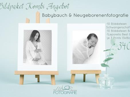 Kombiangebot für Babybauch und Newbornshooting