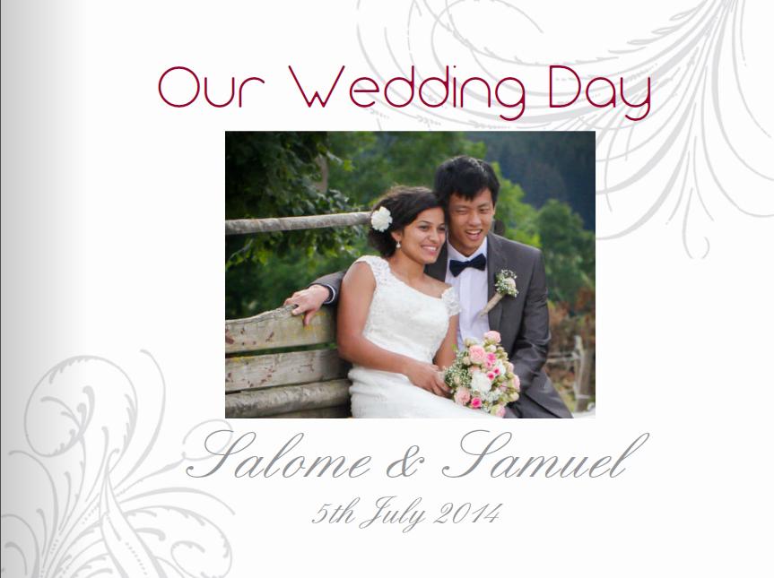 Hochzeit und Fotobuch