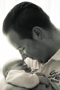 Vater mit Baby Fotografie