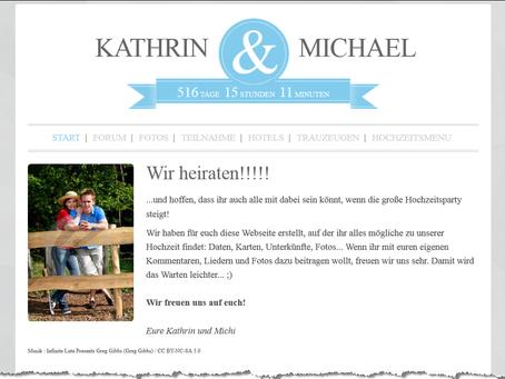 Eure eigene Hochzeits-Webseite