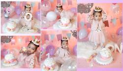 Baby Girl First Birthday Cake Smash