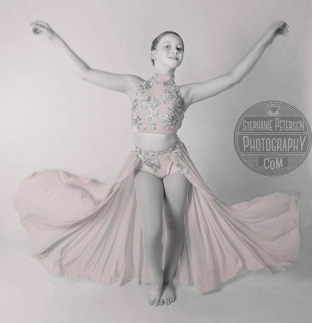 Pink Dress dance photos kids dance photography