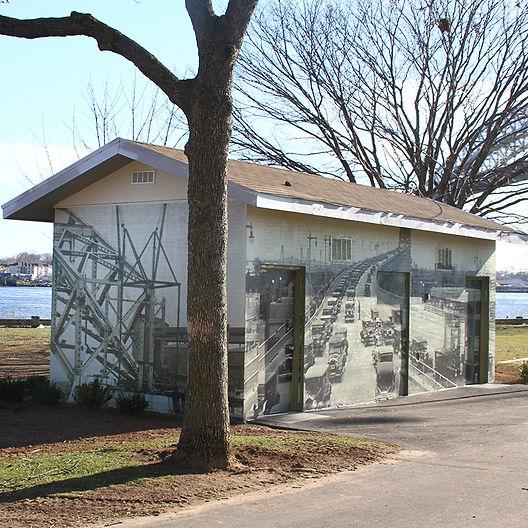 Dennis P. Collins Park Bayonne Bridge Bathroom Mural
