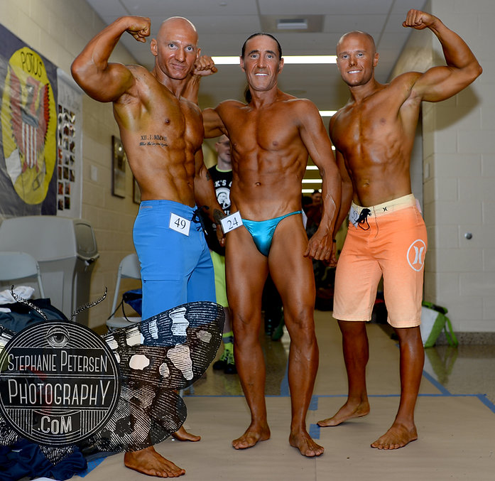 Back stage Franco male body builders fitness photography
