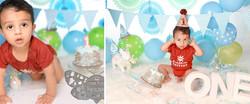 Baby Boy's First Birthday Cake Smash!!