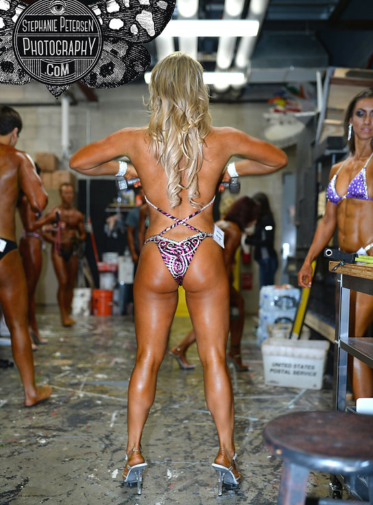 backstage female body builders fitness photography