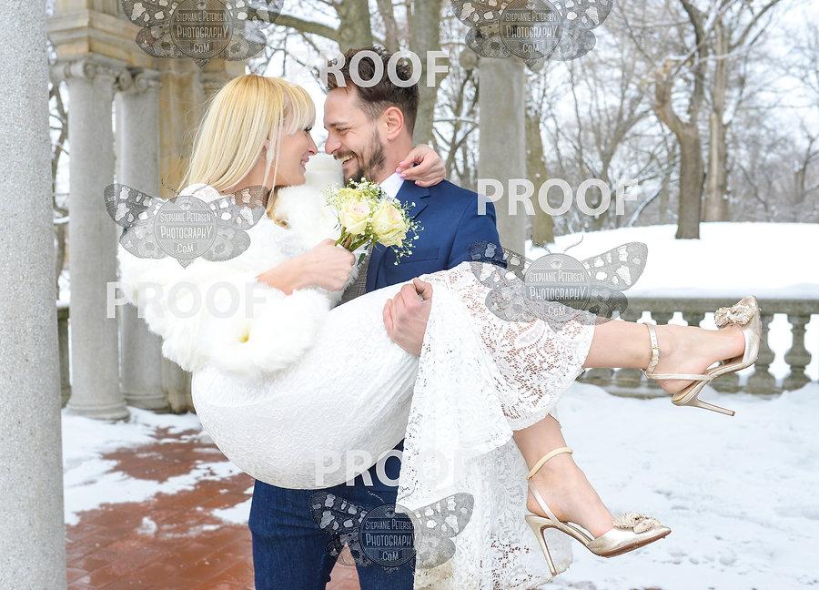 bayonne new jersey wedding photographer on location hudson county park snow
