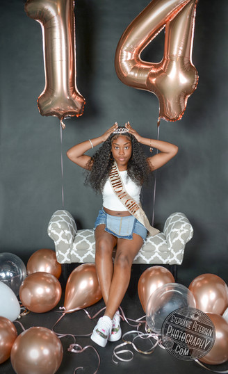 Teen Birthday Photoshoot in the studio!