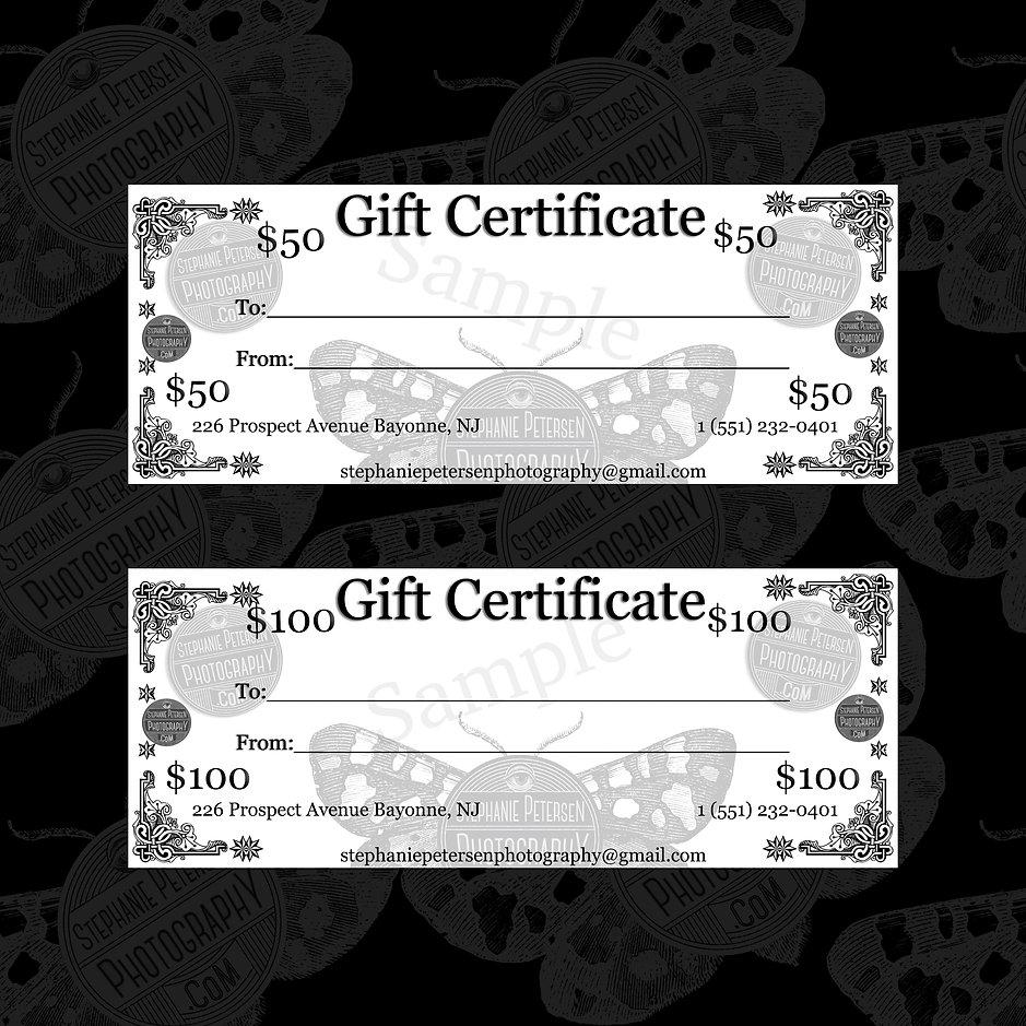Gift Certificates! stephanie petersen photography bayonne new jersey photographer