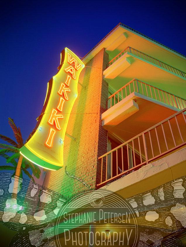 stephanie petersen photography wildwood new jersey waikiki tiki motel neon sign