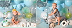 Baby Boy's First Birthday Cake Smash