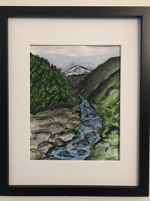 Mountain Print matted