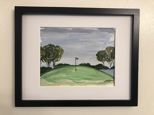 Golf print matted