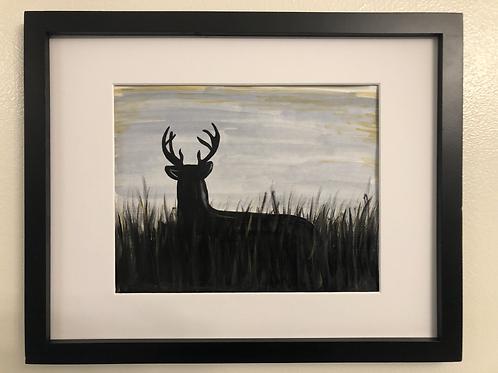 Deer print matted