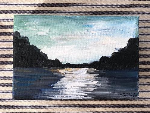 Blue Landscape Mini Canvas