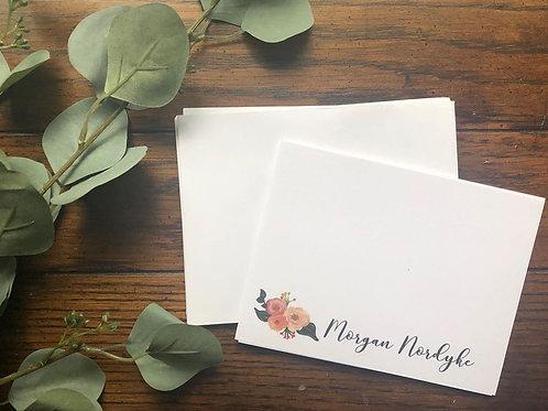 Custom Stationary- Pink Flowers