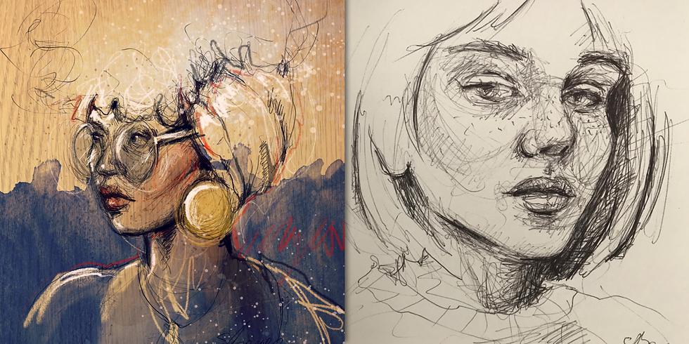 2020-03-14-SB | Sandra Berger - Kraftvolle Portrait Zeichnungen (2 Tage)