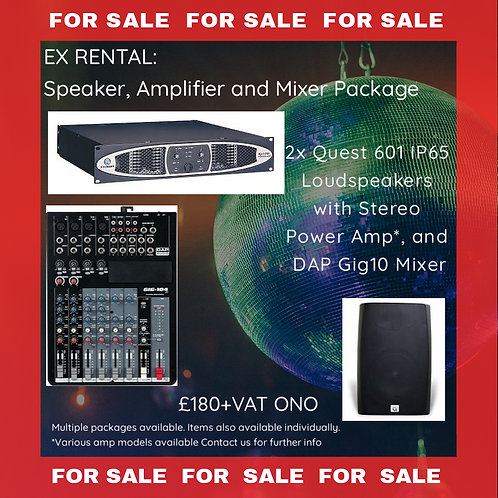 Speaker, Amp and Mixer PACKAGE