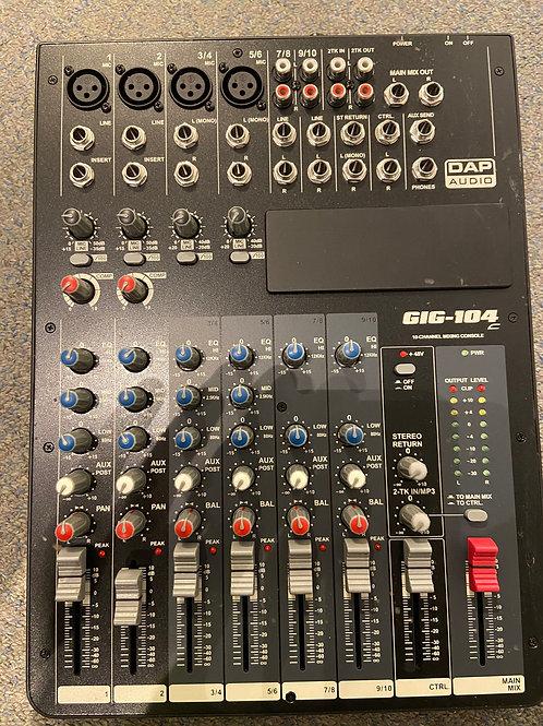 DAP Audio GIG104C Mixers