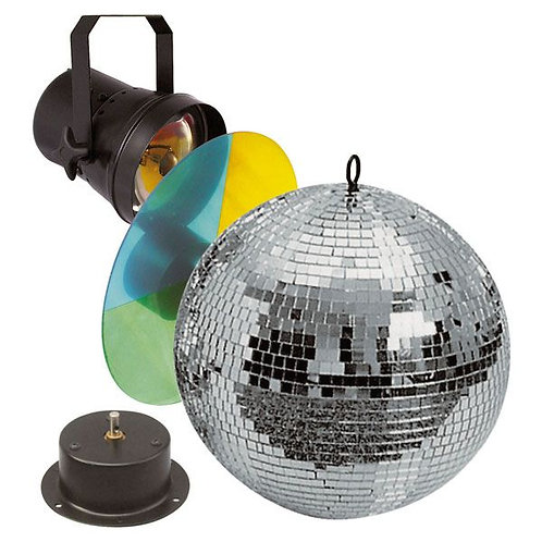 Showtec 30cm Mirrorball Set Basic