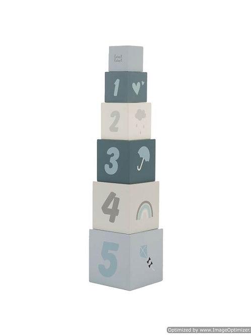 Stapelblokken nummers blauw