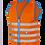 Thumbnail: Fun Jacket kinder fluohesje oranje