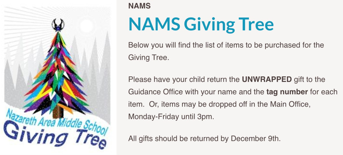 NAMS Giving Tree