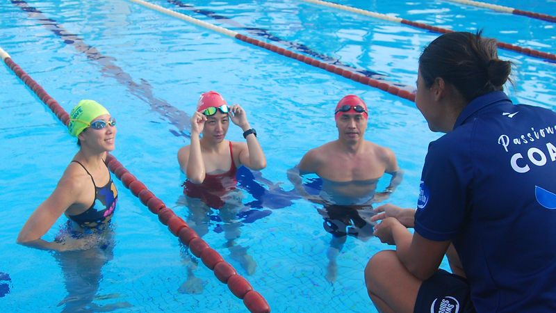Adults learning to swim with Coach Alyce Ooi and MySwim Coaching