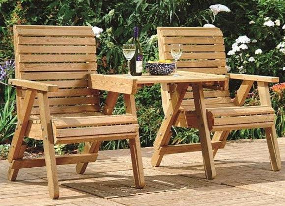2 x ELLI stoel verstelbaar met tafeltje