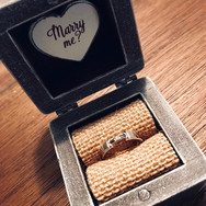 Proposal ring box, Rustic Engagement ring box