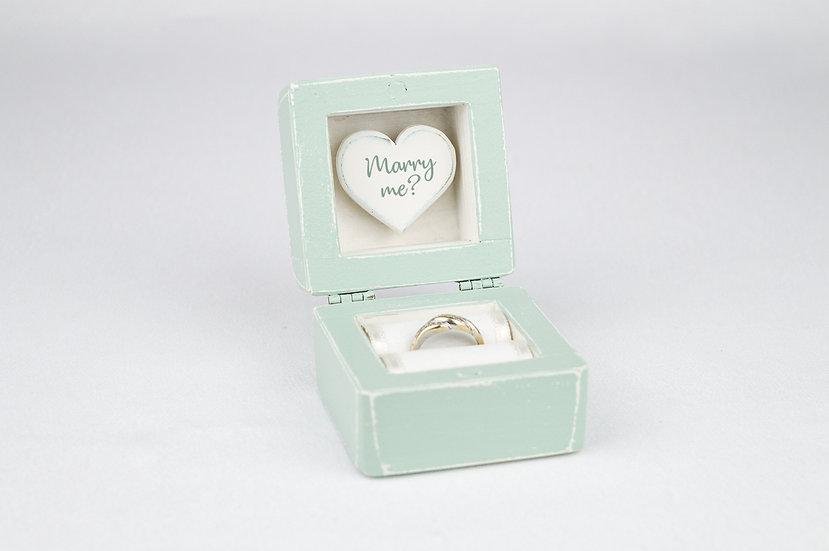 Mint Engagement Ring Box, Mint Proposal Ring Box