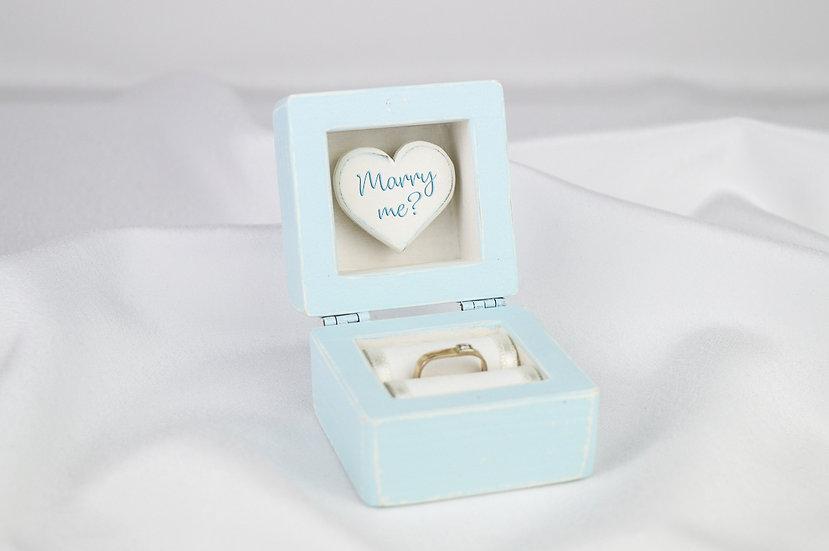 Blue Engagement Ring Box, Blue Proposal Ring Box