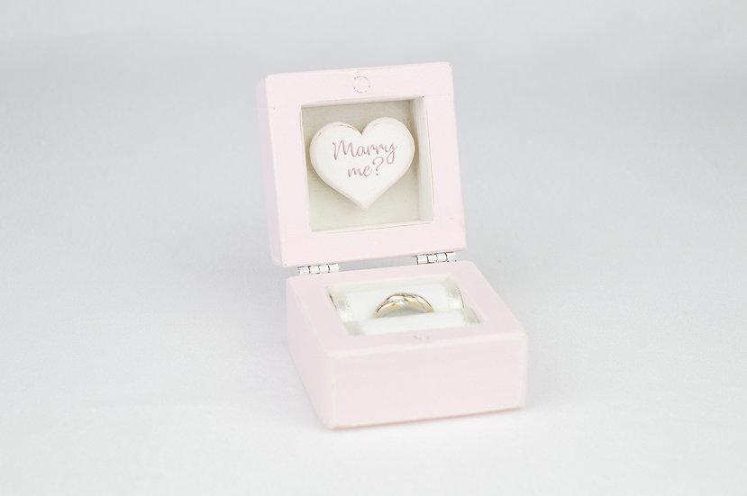 Pink Engagement Ring Box, Pink Proposal Ring Box