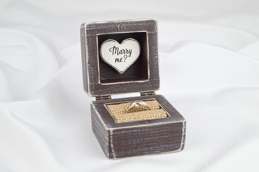 Brown Engagement Ring Box, Brown Proposal Ring Box